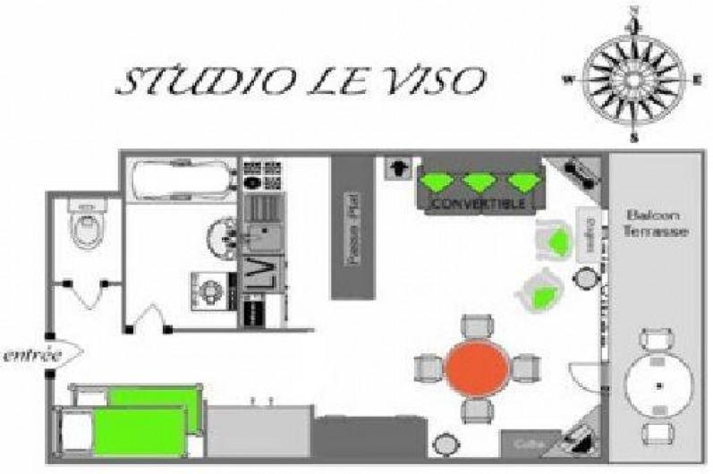Location de vacances - Studio à Abries
