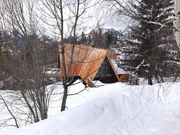 Location de vacances - Chalet à Les Arcs - Vu du chemin/ piste des Espagnols