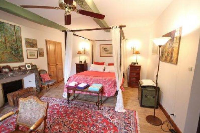 Location de vacances - Maison - Villa à Monfort - Lit à baldaquin de 160