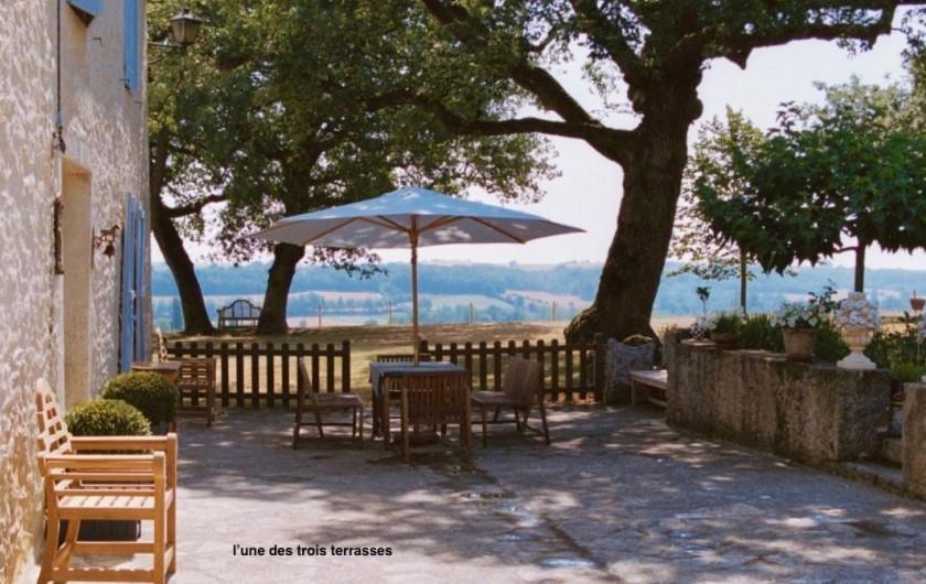 Location de vacances - Maison - Villa à Monfort - Ue des trois terrasses. Celle du Sud