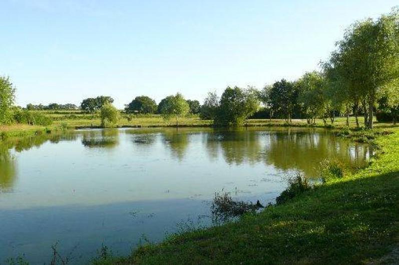 Location de vacances - Chalet à Villiers-Charlemagne - Plan d'eau de 4000m² - La Tannerie