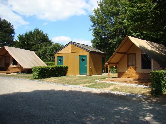 Location de vacances - Chalet à Villiers-Charlemagne - Nouveauté 2016 : tente bivouac sur pilotis