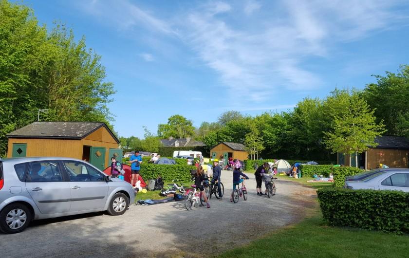 Location de vacances - Chalet à Villiers-Charlemagne - Campeurs venus en vélo Vélo Francette®