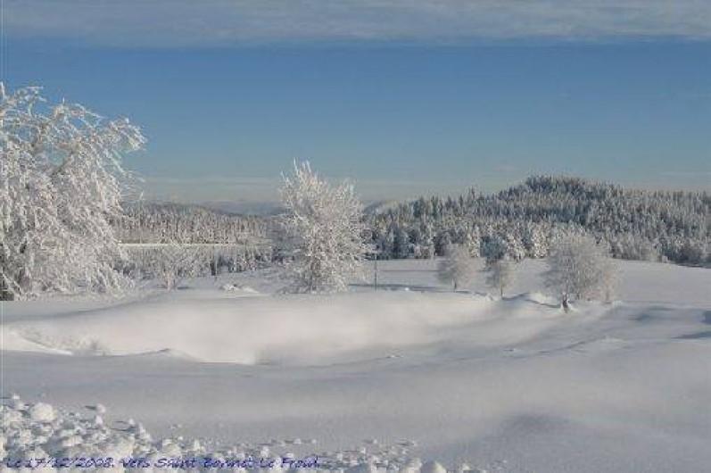 Location de vacances - Gîte à Rochepaule - neige en hiver