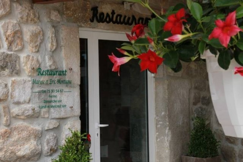 Location de vacances - Gîte à Rochepaule - entre restauarnt