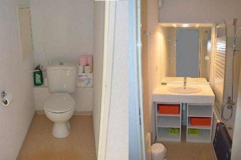Location de vacances - Appartement à La Foux d'Allos - WC   Salle de bain