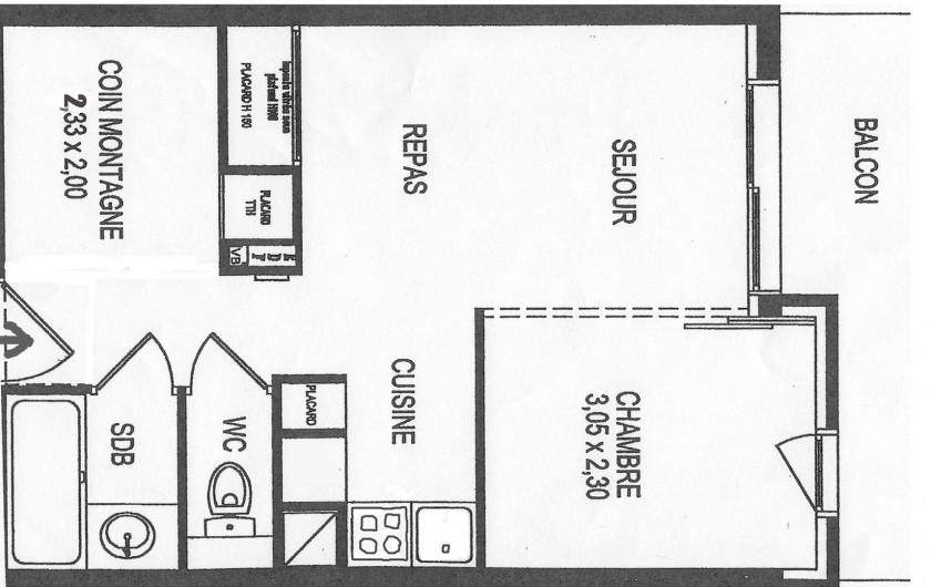 Location de vacances - Appartement à La Foux d'Allos - Le plan de l'appartement