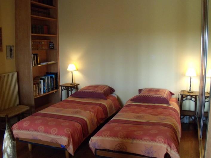 Location de vacances - Maison - Villa à Granville - Chambre n°1, version lits simples