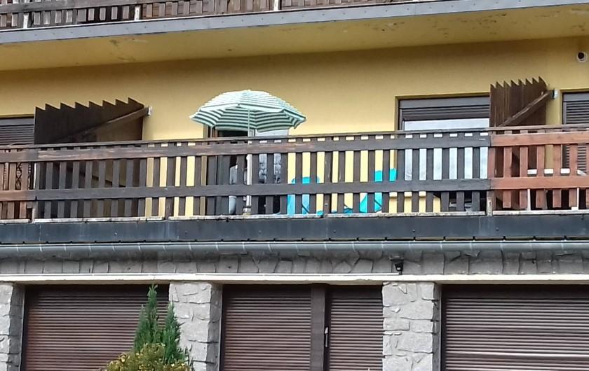 Location de vacances - Appartement à Orbey - vu de la terrasse