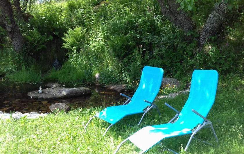 Location de vacances - Appartement à Orbey - possibilité de ce relaxer au prés de la source