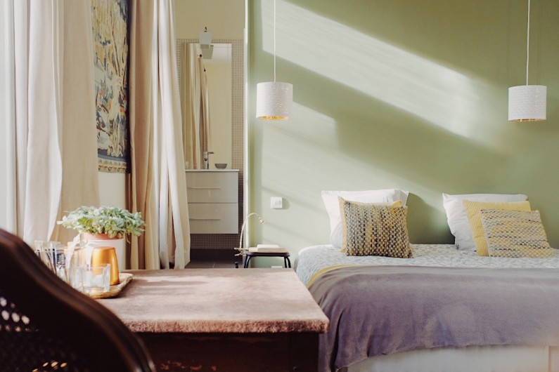 Location de vacances - Mas à Uchaux - Une des chambres confort