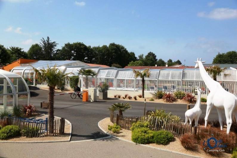 Location de vacances - Bungalow - Mobilhome à Landevieille - Accueil du camping l'Orée de l'Océan en Vendée