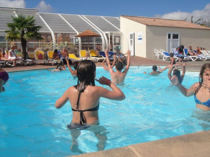 Location de vacances - Bungalow - Mobilhome à Landevieille - La piscine extérieur chauffée