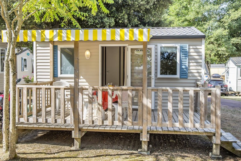 Location de vacances - Camping à Dolus-d'Oléron - Mobil Home 1 chambre – Formule 2