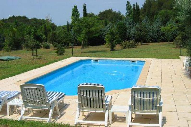Location de vacances - Mas à Beaurecueil - Piscine 10,60 x 4,50 m