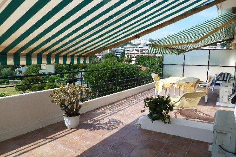 Location de vacances - Appartement à Nice - terrasse vue imprenable panoramique
