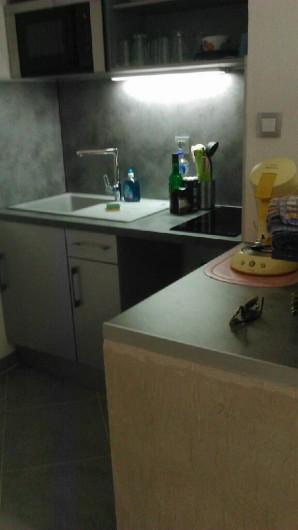 Location de vacances - Appartement à Palavas-les-Flots - Cuisine équipée et aménagée.