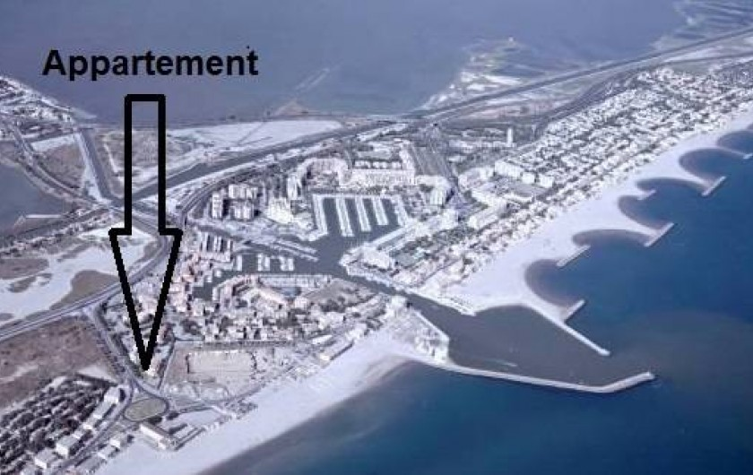 Location de vacances - Appartement à Palavas-les-Flots - Appartement à quelques mètres de la mer.