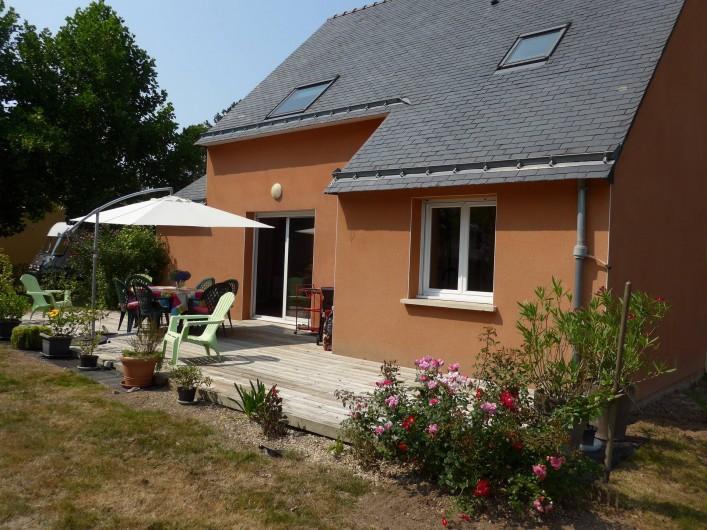 Location de vacances - Chambre d'hôtes à Camoël - Terrasse plein sud