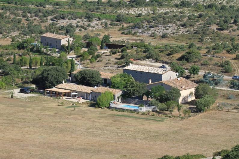 Location de vacances - Appartement à Saint-Hippolyte-du-Fort - Vue du Mas