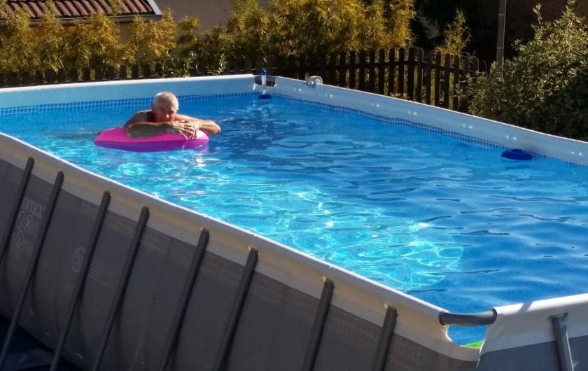 Location de vacances - Gîte à Mondon - Piscine des propriétaires mise à disposition de nos hôtes