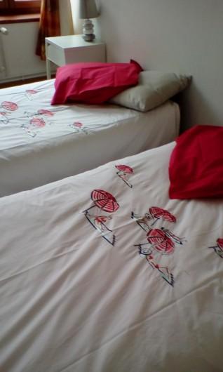 Location de vacances - Appartement à Saint-Valery-sur-Somme - chambre  avec 2lits d'une personne