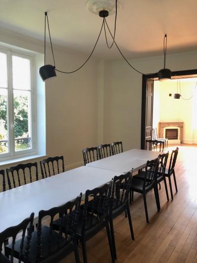Location de vacances - Gîte à Tonnoy - la grande salle à manger