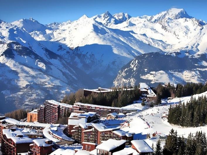 Location de vacances - Appartement à Arc 1800 - Arcs1800 sur fond de Mt Blanc