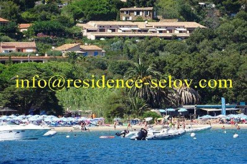 Location de vacances - Appartement à Le Lavandou - vue de la mer