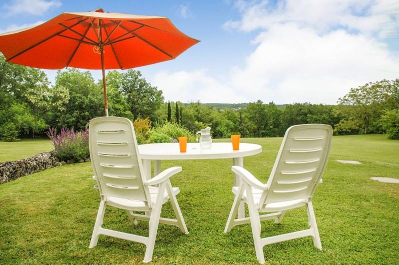 Location de vacances - Maison - Villa à Montcuq - Vue imprenable sur la campagne