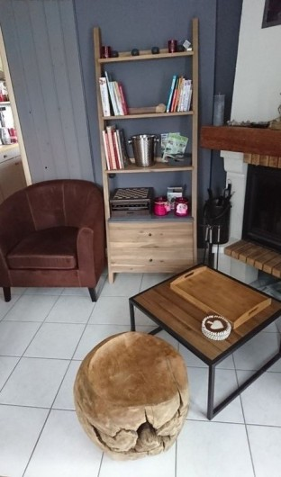 Location de vacances - Chalet à Tendon - COIN CHEMINEE