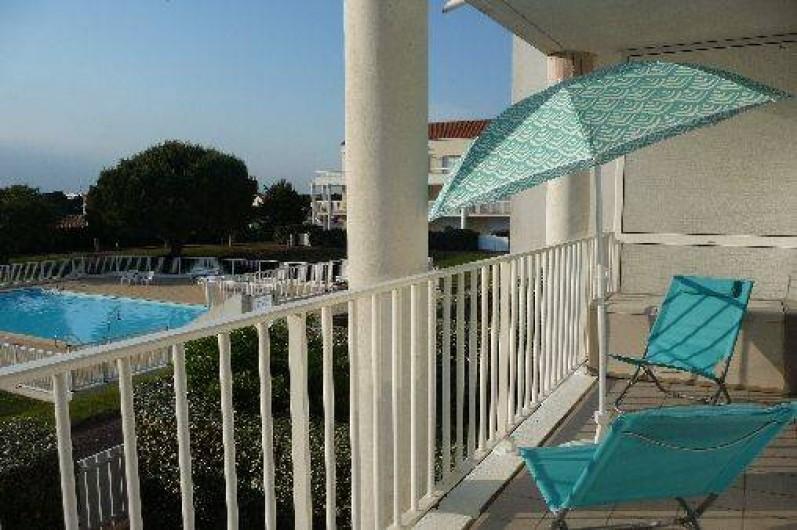 Location de vacances - Studio à Les Sables-d'Olonne - la vue du balcon n°1