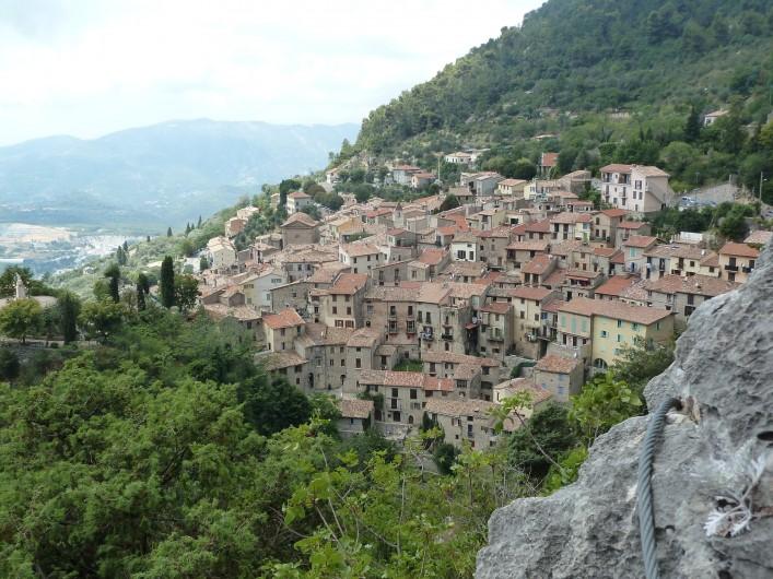 Location de vacances - Appartement à Fréjus - Village perché de Peille (67 km), vu de la Via Ferrata