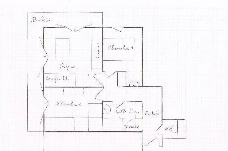 Location de vacances - Appartement à Morzine - Plan