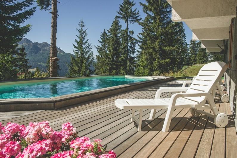 Location de vacances - Studio à La Rosière - Vue sur la montagne