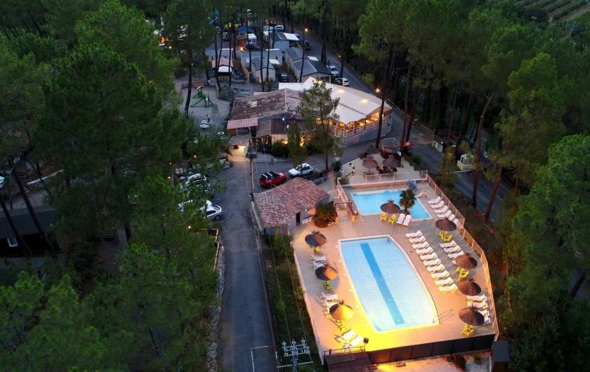 Location de vacances - Chalet à Joyeuse - Notre site - Vue aérienne