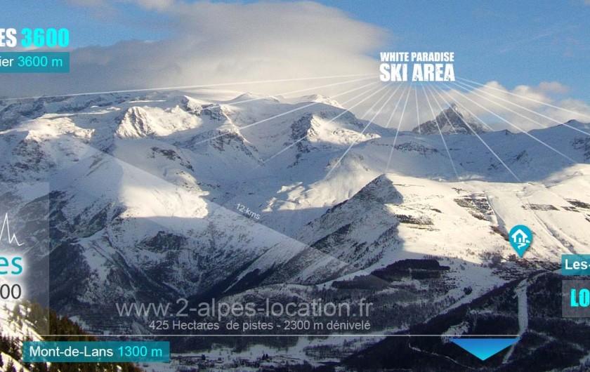 Location de vacances - Appartement à Les Deux Alpes - domaine skiable à l'arrière de la résidence