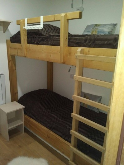 Location de vacances - Appartement à Les Deux Alpes - Petite chambre avec lit de 80/200 superposé