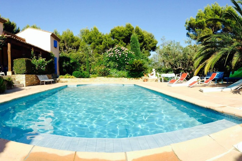 Location de vacances - Villa à La Cadière-d'Azur - Piscine privative au sel chauffée