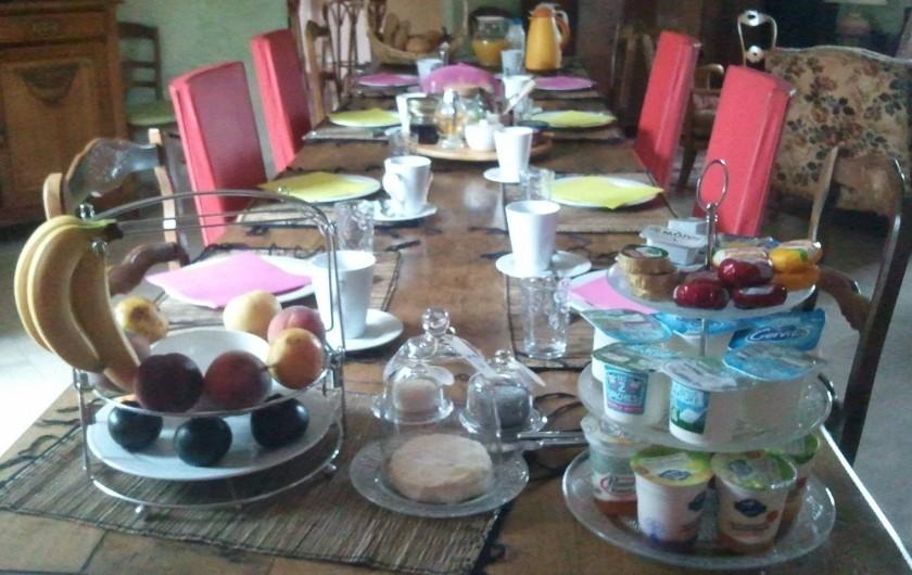 Location de vacances - Chambre d'hôtes à Gigny - Petit déjeuner européen