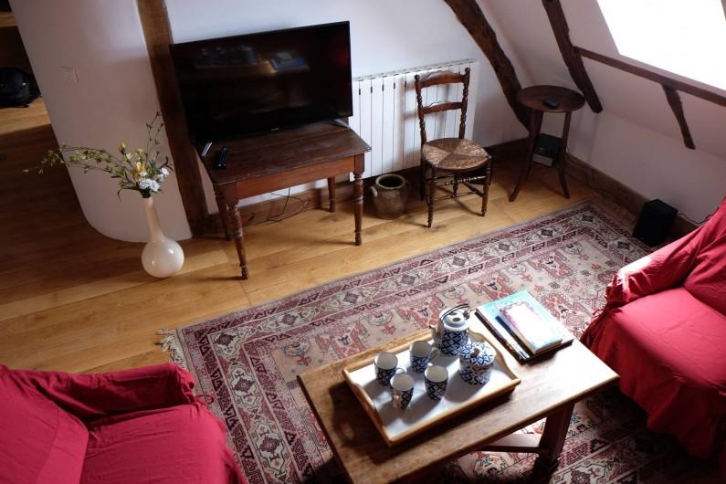 Location de vacances - Gîte à Cénac-et-Saint-Julien - Salon du gîte Jardins du Périgord