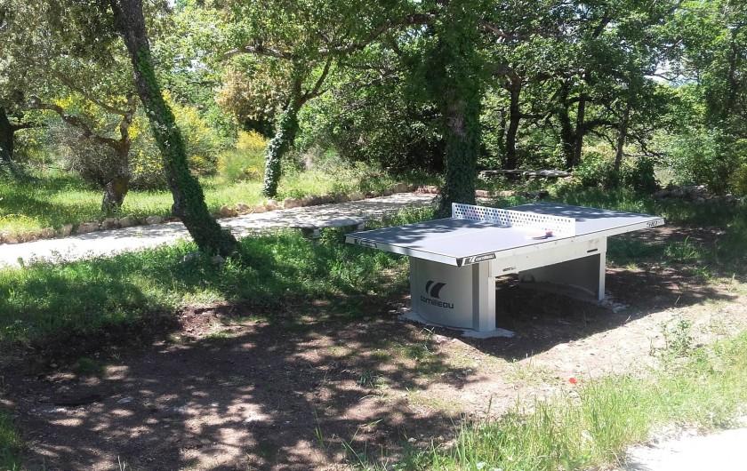 Location de vacances - Villa à Saignon - table de ping pong, terrain de boules