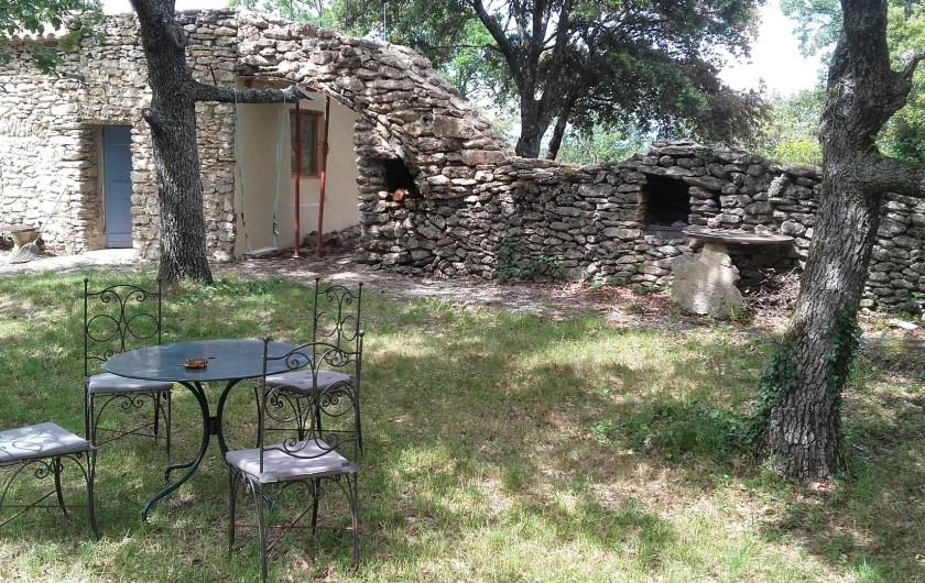 Location de vacances - Villa à Saignon - coin barbecue