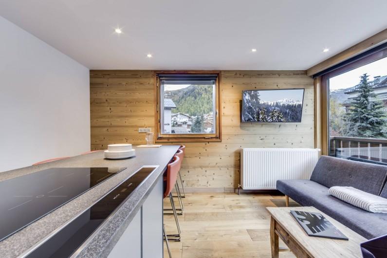 Location de vacances - Appartement à Val-d'Isère - Piece de vie