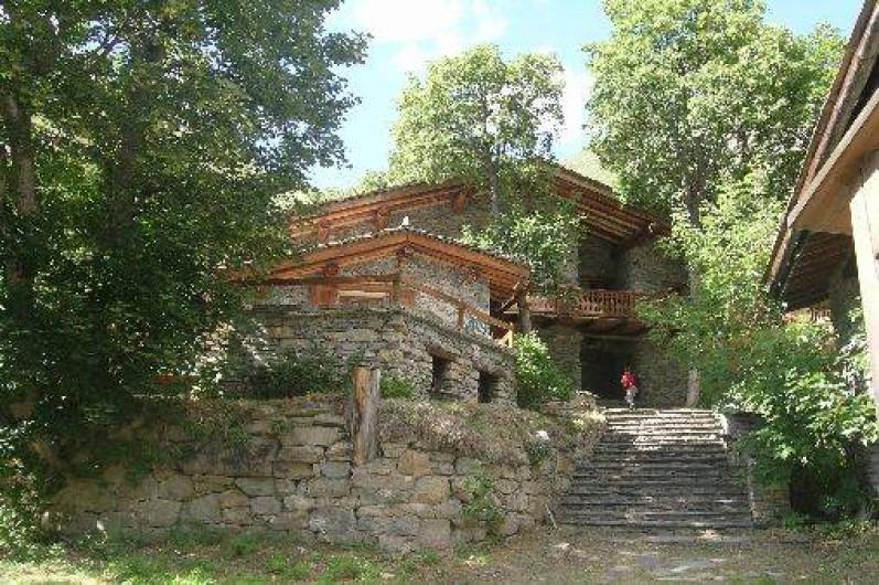 Location de vacances - Appartement à Bonneval-sur-Arc - Le chalet en été