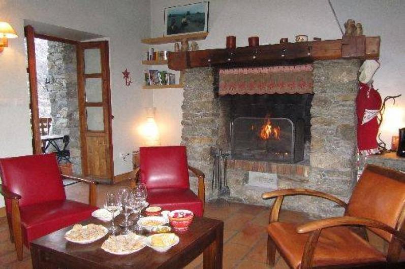 Location de vacances - Appartement à Bonneval-sur-Arc - Apéro au coin du feu !