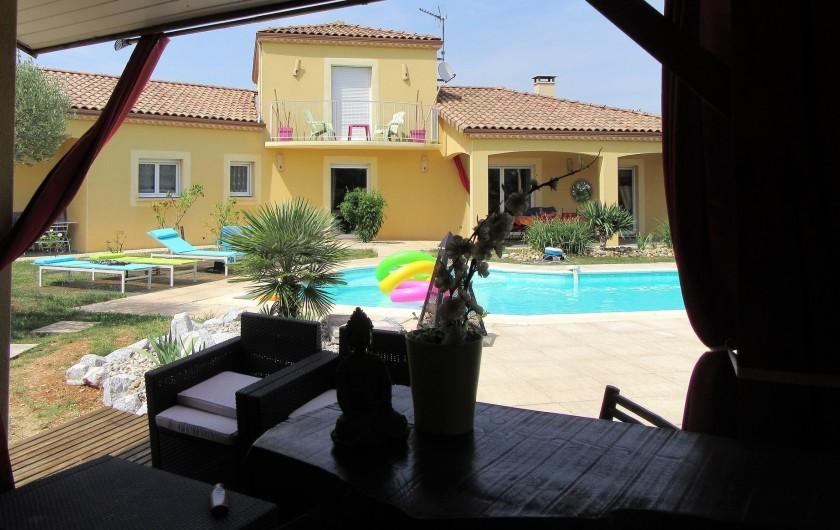 Location de vacances - Villa à Lalbenque - Vue du Pool-house