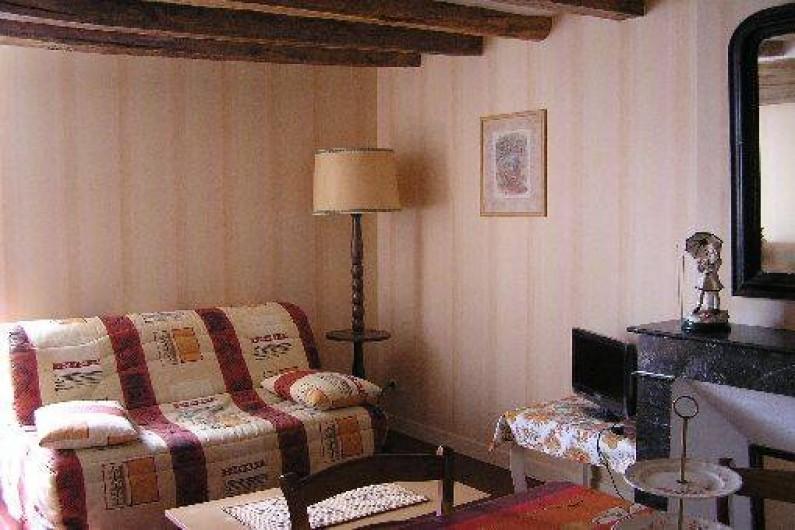 Location de vacances - Studio à Saint-Aubin-de-Luigné - Salle à manger/salon : partie salon