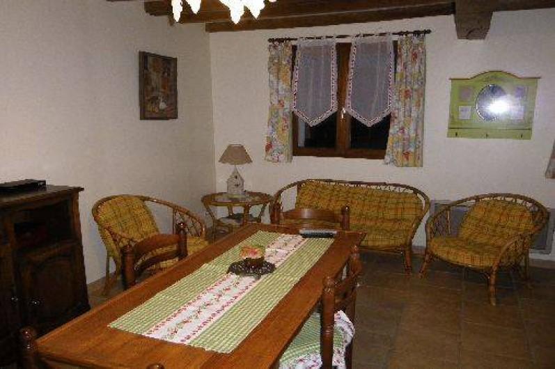 Location de vacances - Gîte à Berck - Le salon et la salle à manger.