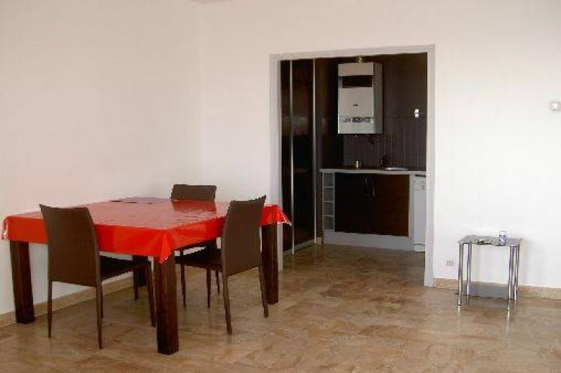 Location de vacances - Appartement à Ajaccio - séjour /cuisine